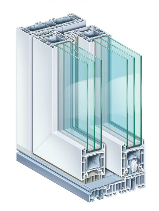 Weru lift & slide door CASTELLO-plus HS, normal leaf profile