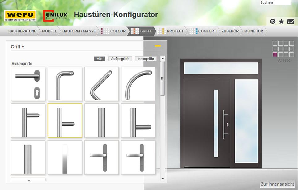 unser haust ren konfigurator weru gmbh. Black Bedroom Furniture Sets. Home Design Ideas